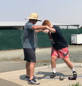 shot put and discus throwing camps